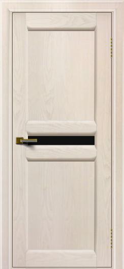 Дверь ЛайнДор Кристина 2 жемчуг Черное малое стекло