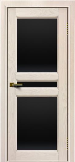 Дверь ЛайнДор Кристина 2 жемчуг Черное полное стекло