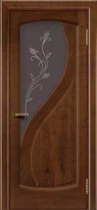 Дверь ЛайнДор Новый стиль американский орех 23 стекло Ирис