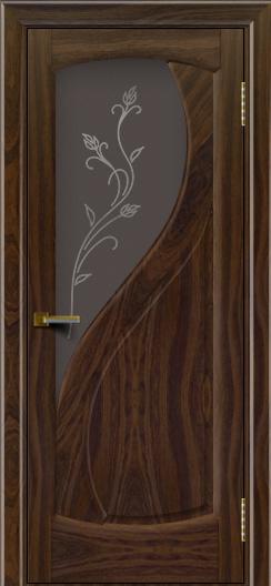 Дверь ЛайнДор Новый стиль американский орех 25 стекло Ирис