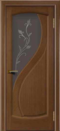Дверь ЛайнДор Новый стиль дуб стекло Ирис