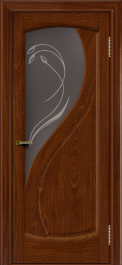 Двери ЛайнДор Новый стиль 2 тон 10 стекло Новый стиль темное