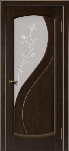 Двери ЛайнДор Новый стиль 2 тон 12 стекло Ирис светлое