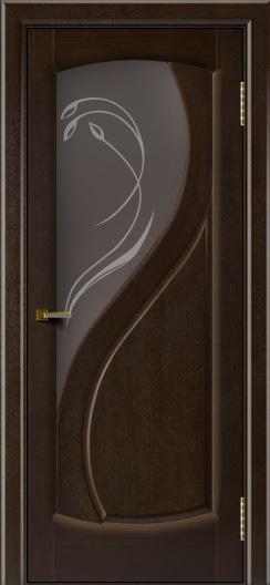 Двери ЛайнДор Новый стиль 2 тон 12 стекло Новый стиль темное