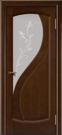 Двери ЛайнДор Новый стиль 2 тон 2 стекло Ирис светлое