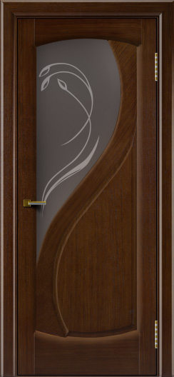 Двери ЛайнДор Новый стиль 2 тон 2 стекло Новый стиль темное