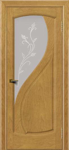 Двери ЛайнДор Новый стиль 2 тон 24 стекло Ирис светлое
