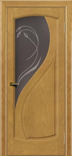Двери ЛайнДор Новый стиль 2 тон 24 стекло Новый стиль темное