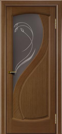 Двери ЛайнДор Новый стиль 2 тон 5 стекло Новый стиль темное