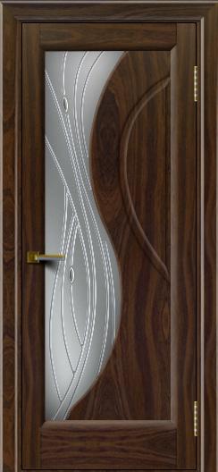 Дверь ЛайнДор Прага Американский орех Стекло Волна