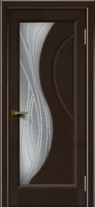 Дверь ЛайнДор Прага Венге 12 стекло Волга