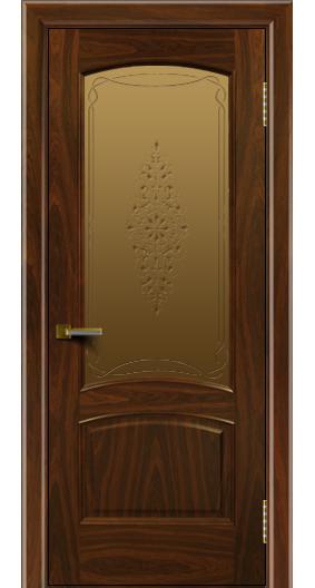 Двери ЛайнДор Анталия американский орех тон 25 стекло Вива