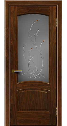 Двери ЛайнДор Анталия американский орех тон 25 стекло Ковыль