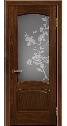 Двери ЛайнДор Анталия американский орех тон 25 стекло Сакура