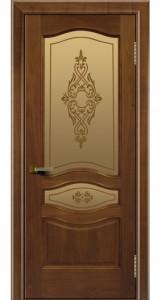 Двери ЛайнДор Амелия американский орех тон 23 стекло Айрис