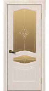 Двери ЛайнДор Амелия жемчуг тон 27 стекло Амелия