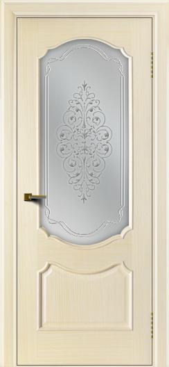 Двери ЛайнДор Богема беленый дуб тон 16 стекло Вива сатин