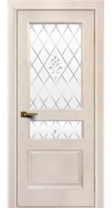 Двери ЛайнДор Калина жемчуг тон 27 стекло Лилия