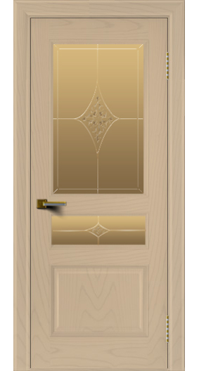 Двери ЛайнДор Калина ясень тон 3 стекло Гелиос