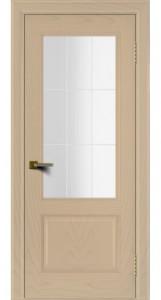 Двери ЛайнДор Кантри ясень тон 3 стекло Решетка