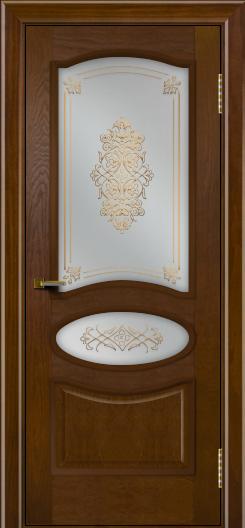 Двери ЛайнДор Оливия тон 30 стекло Дамаск