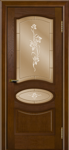 Двери ЛайнДор Оливия тон 30 стекло Рим бронза