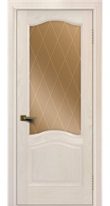Двери ЛайнДор Пронто жемчуг тон 27 стекло Лондон бронза