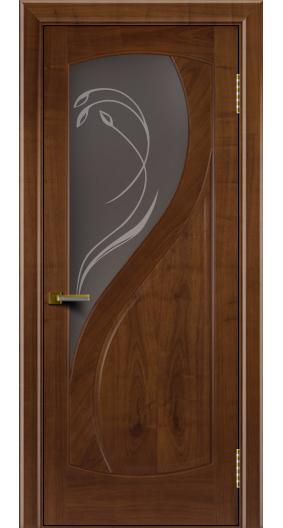 Двери Лайндор модель Новый стиль американский орех 23 стекло Новый стиль