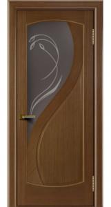 Двери Лайндор модель Новый стиль дуб 5 стекло Новый стиль