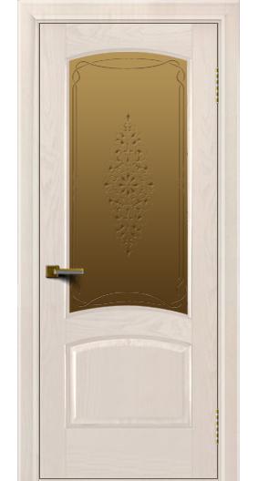 Двери ЛайнДор Алина жемчуг тон 27 стекло Вива