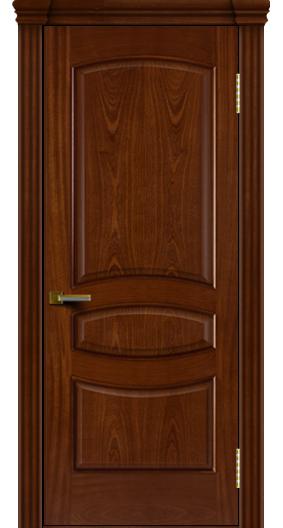Двери ЛайнДор Алина красное дерево тон 10 глухая капитель 3 эл.