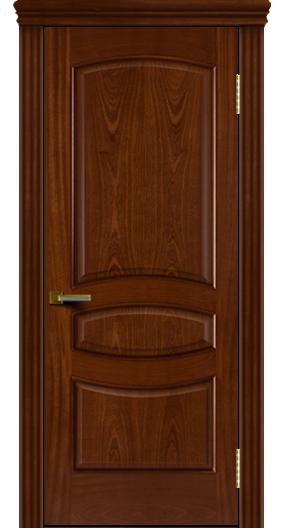 Двери ЛайнДор Алина красное дерево тон 10 глухая карниз