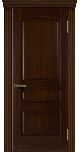 Двери ЛайнДор Алина красное дерево тон 18 карниз