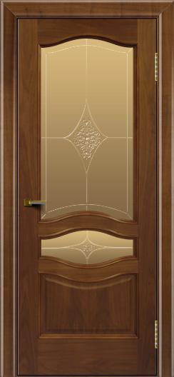 Двери ЛайнДор Амелия америеанский орех тон 23 стекло Амелия бронза