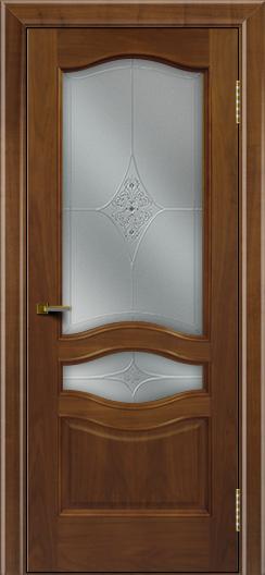 Двери ЛайнДор Амелия америеанский орех тон 23 стекло Амелия
