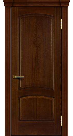 Двери ЛайнДор Анталия красное дерево тон 10 глухая капитель 3 эл.