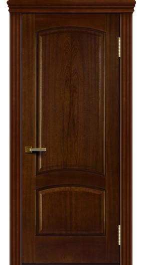 Двери ЛайнДор Анталия красное дерево тон 10 глухая карниз