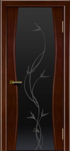 Двери ЛайнДор Арабика американский орех тон 19 стекло Флора