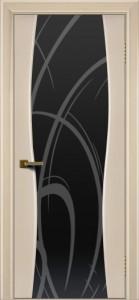 Двери ЛайнДор Арабика беленый дуб тон 16 стекло Арабика