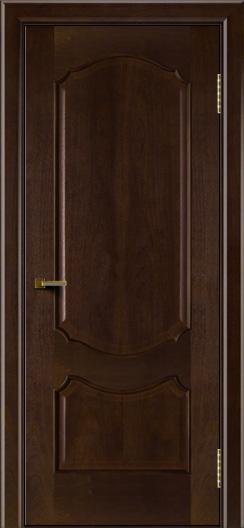 Двери ЛайнДор Богема красное дерево тон 18 глухая