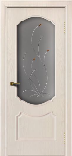 Двери ЛайнДор Богема ясень жемчуг тон 27 стекло Ковыль