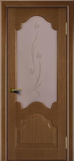 Двери ЛайнДор Верона дуб тон 5 стекло Алина