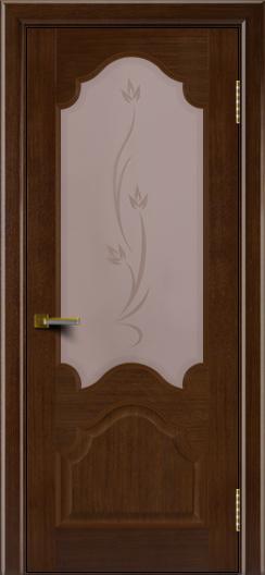 Двери ЛайнДор Верона орех тон 2 стекло Алина