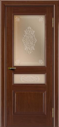 Двери ЛайнДор Калина вишня тон 6 стекло Дамаск бронза