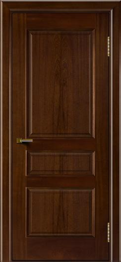 Двери ЛайнДор Калина красное дерево тон 10 глухая