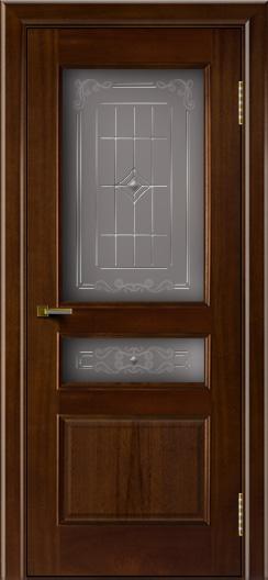 Двери ЛайнДор Калина красное дерево тон 10 стекло Калина