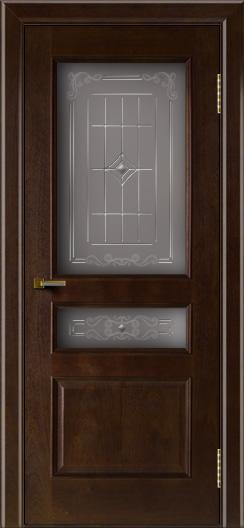 Двери ЛайнДор Калина красное дерево тон 18 стекло Калина