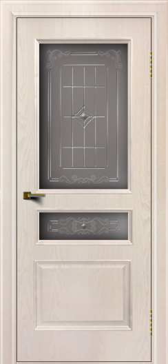 Двери ЛайнДор Калина ясень жемчуг тон 27 стекло Калина