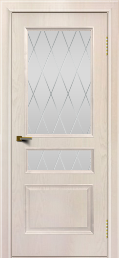 Двери ЛайнДор Калина ясень жемчуг тон 27 стекло Лондон