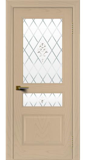 Двери ЛайнДор Калина ясень тон 3 стекло Лилия